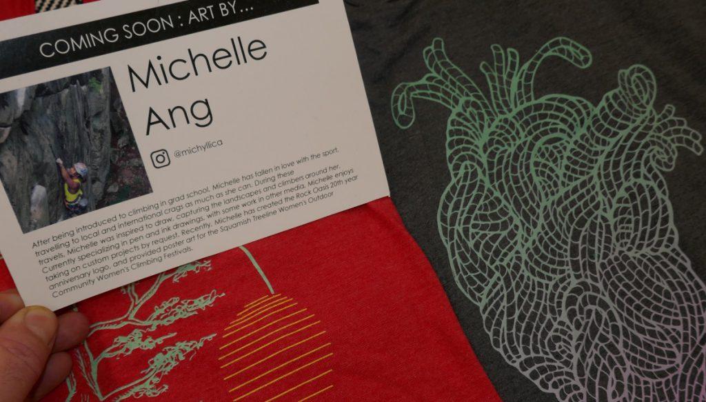 Michelle Ang climber artist tshirt designer