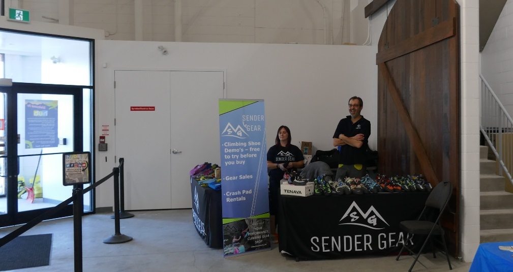 Sender Gear at Opening Party, Hub Climbing Mississauga