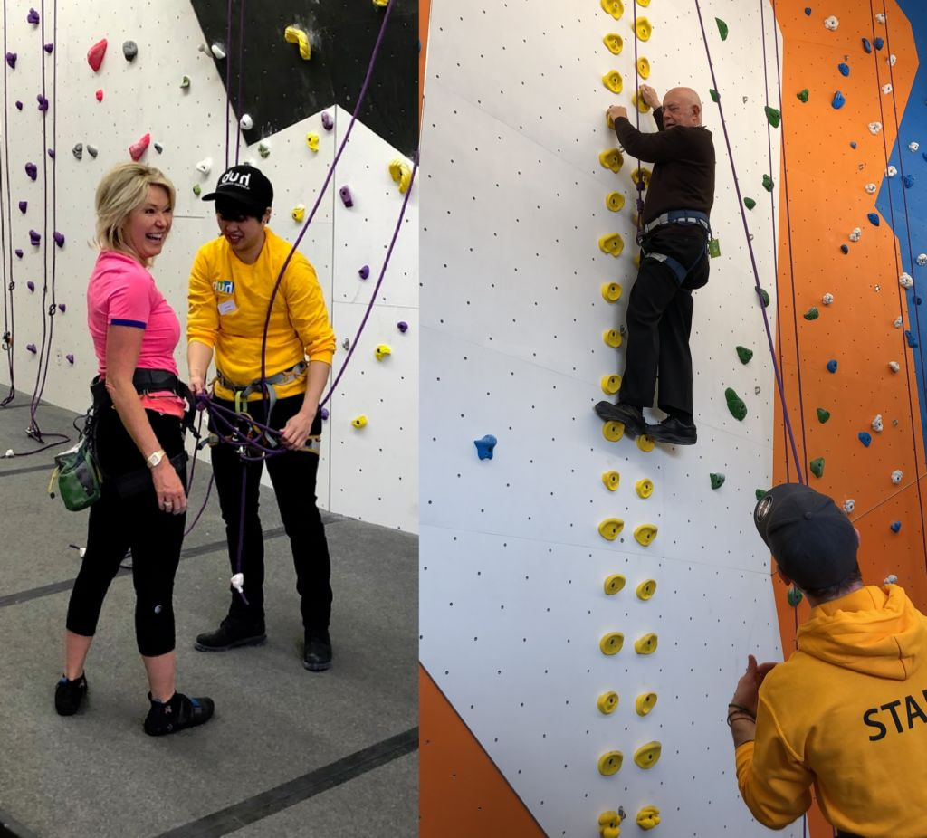 Mississauga Mayor Bonnie Crombie goes climbing with Ron Starr, councilor Ward 6