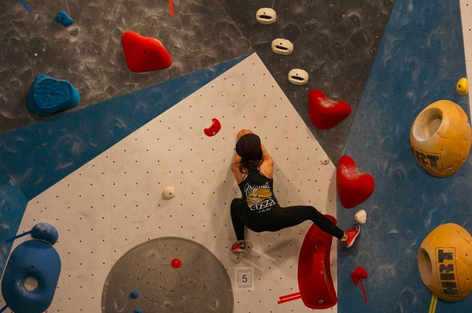 Climbing in a competition