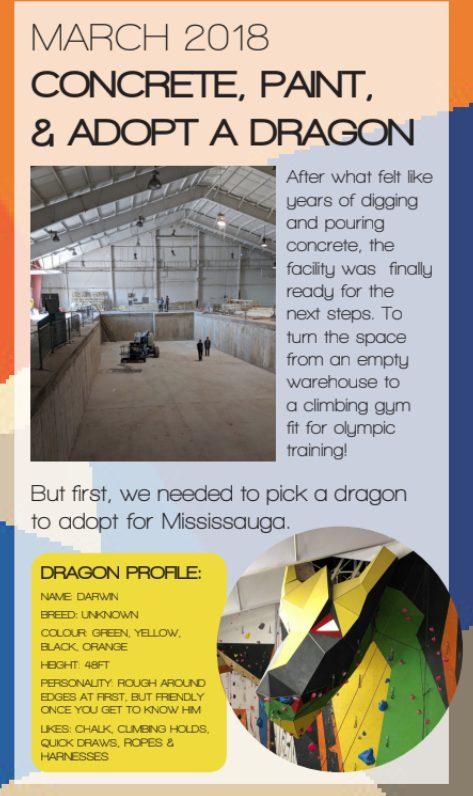 After what felt like years of digging and pouring concrete, the facility was finally ready for the next steps. To turn the space from an empty warehouse to a climbing gym fit for olympic training!