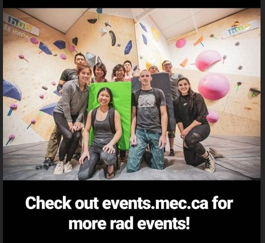 A great night of climbing in Toronto MEC