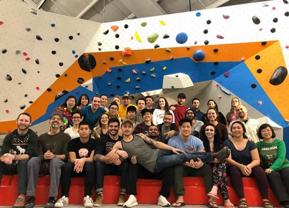 staff at hub climbing, mississauga